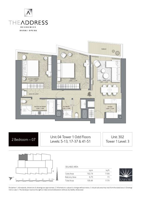 house layout by address the address residence dubai opera tower 1 floor plans