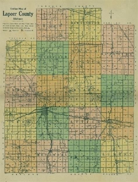 Lapeer County Records Usgennet Data Repository Lapeer County Michigan