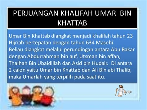 Jejak Langkah Umar Bin Khattab presentasi ski umar bin khattab