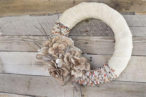 rustic diy crafts fall wreath diy project idea burlap yarn consumer crafts