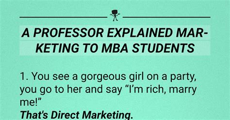 Mba Student Meaning by A Professor Explained Marketing To Mba Students Webfail