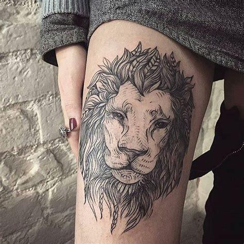 lion leg tattoo best 25 thigh ideas on half