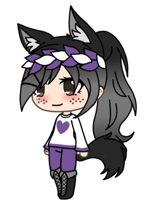pin  abby  wolf  gacha life  images kitten