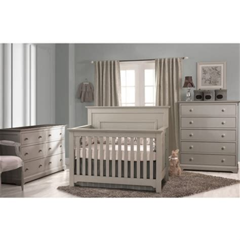 Grey Crib And Dresser Set by Munire 3 Nursery Set Nursery Set Chesapeake