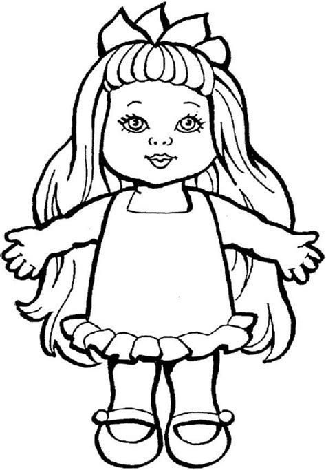 Doll Coloring Pages To Print Rag Doll Coloring Pages Alltoys For by Doll Coloring Pages To Print