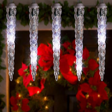led shooting star christmas light string set of 8 icicles
