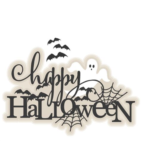 Free Software Mailed To Me At Home happy halloween title svg scrapbook cut file cute clipart