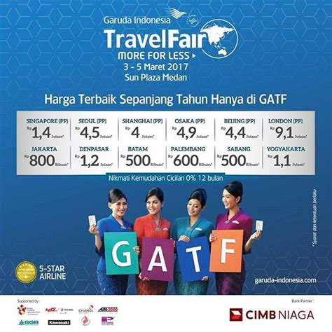 garuda indonesia travel fair gatf  event medan