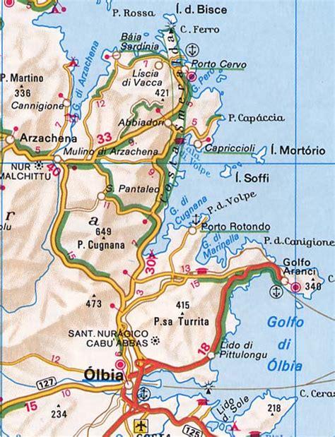 porto cervo mappa maps of the costa smeralda in sardinia
