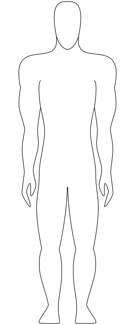 human template outline of person template clipart best