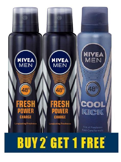 California Cool Scents Buy 2 Get 1 Free Nivea Deo Combo Buy 2 Fresh Power Charge Deodorant Get 1 Cool Kick Deodorant Free Buy