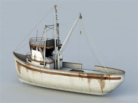 small fishing boat 3d model object files free download - Small Fishing Boat Models