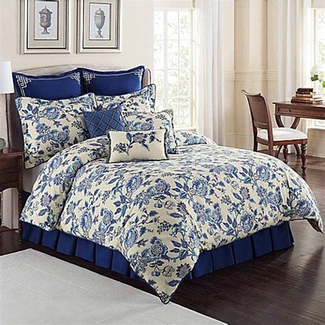 bed bath and beyond williamsburg williamsburg persiana comforter set in blue bed bath