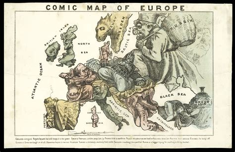 hadol s satirical map of europe of 1870 maps daniel