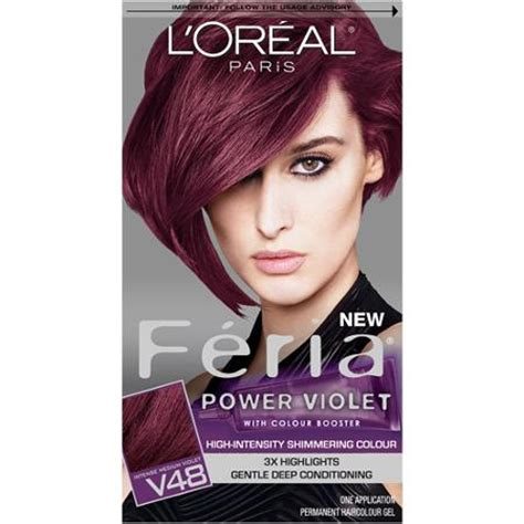 black purple hair dye loreal buy l oreal feria power reds hair color r57 medium