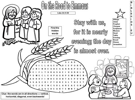 coloring page of jesus on the road to emmaus on the road to emmaus coloring page of jesus on the road