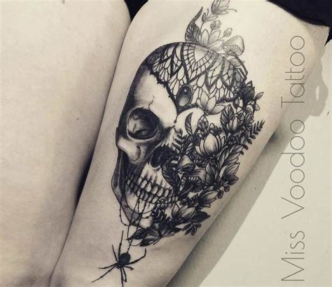 skull and flower tattoos 17 best ideas about flower skull tattoos on
