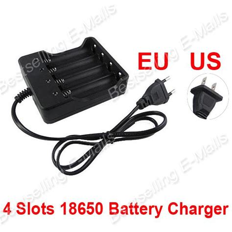 Dekstop Charger Battery 18650 4 Slot Battery 1 4 slots 18650 battery charger 4 smart multi slots 18650 lithium ion battery charger in chargers