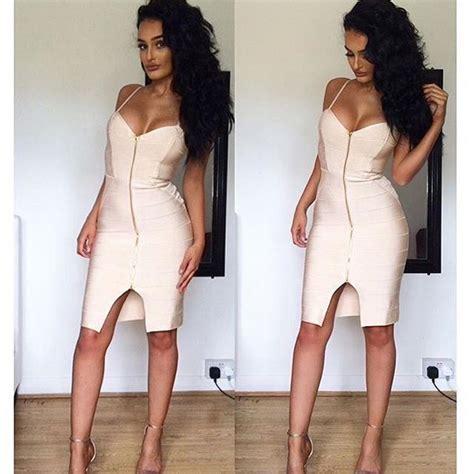 Cloein Dress top quality black white front zipper open fork