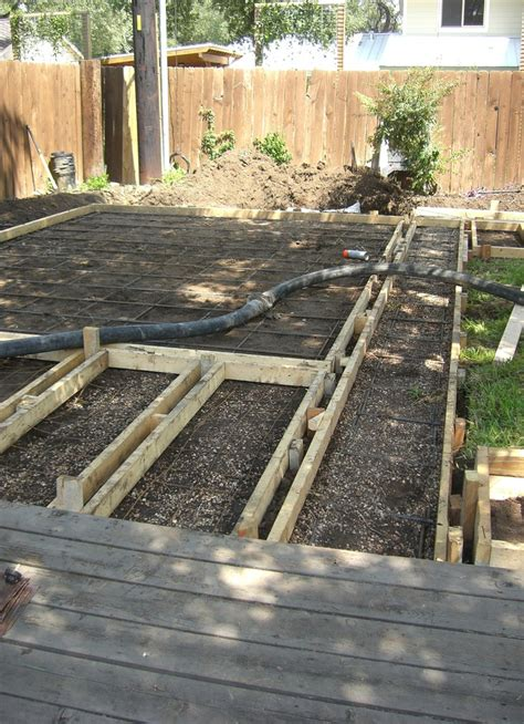 concrete backyard makeover concrete formwork austin backyard makeover suelos y