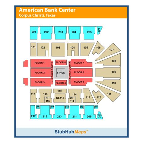 american bank center rodeo seating chart american bank center events and concerts in corpus christi