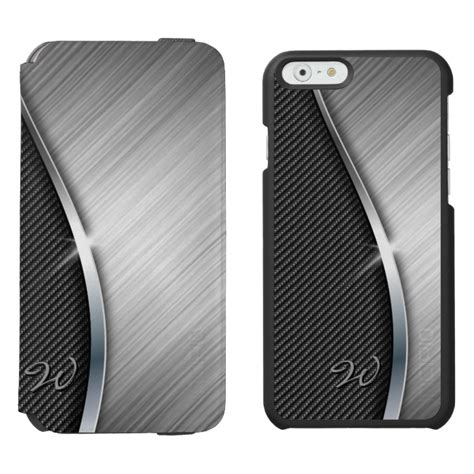 Slim Eco Iphone 6 6g 6s 4 7 Inchi Smooth Hardcase Anti Baret carbon fiber brushed metal 4 iphone 6 6s wallet
