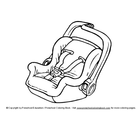 coloring pages baby items baby car seat drawing baby items coloring pages pics i