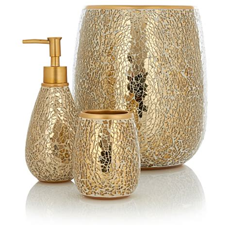 bathroom gold accessories george home accessories gold sparkle bathroom accessories asda direct