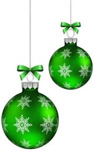 green christmas balls decoration png clipart image