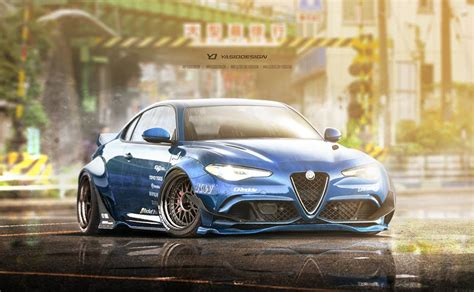 rocket bunny alfa romeo giulia rendered might just happen