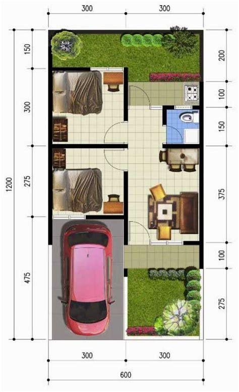 desain rumah sederhana ukuran 6 215 12 meter