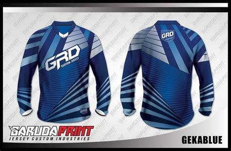 desain kaos sepeda downhill custom biru garuda print