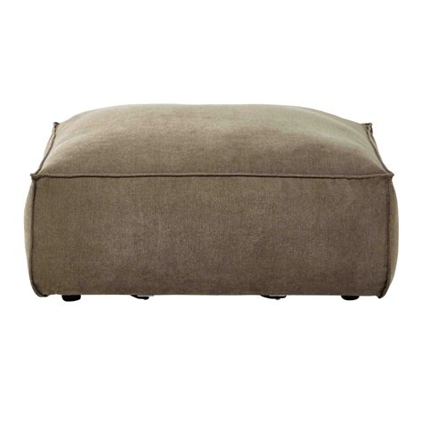Sofa Pouffe by Fabric Modular Sofa Pouffe In Taupe Rubens