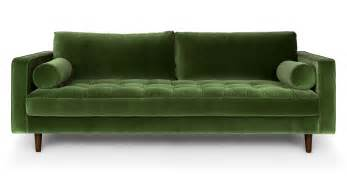 green sofa sven grass green sofa sofas article modern mid