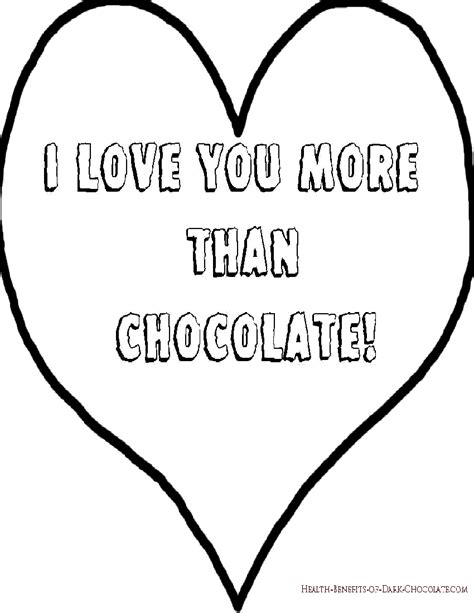 i love you more coloring pages chocolate valentine coloring pages