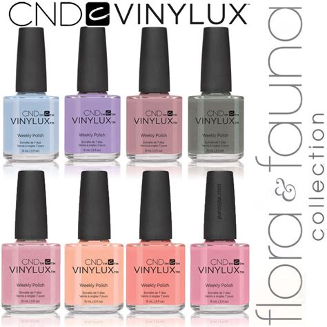 vinylux colors cnd vinylux 2015 flora fauna collection