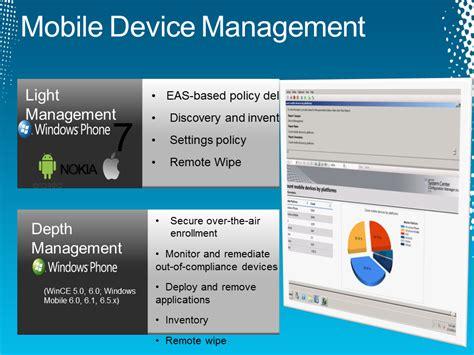 mobile management system sccm 2012 mobile management system center configuration