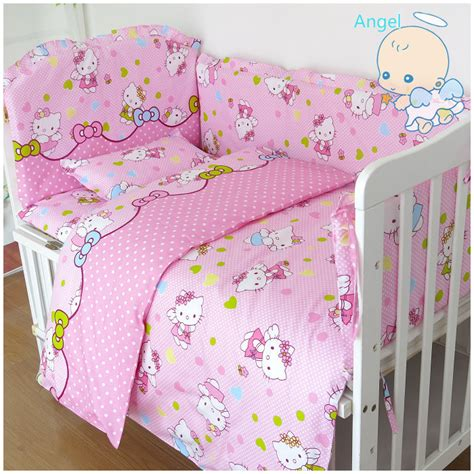 hello kitty crib bedding set 6pcs hello kitty cot bumper baby bed bumper baby cot set