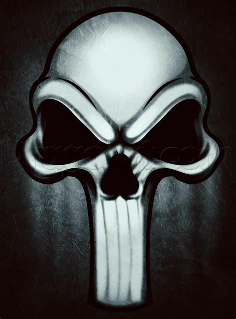 punisher skull tattoo how to draw a punisher skull step by step marvel