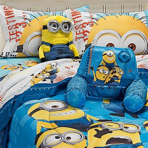 minion bed set minions comforter buybuy baby