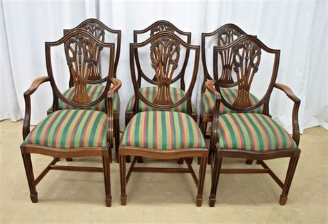 Six Mahogany Shield Back Dining Chairs For Sale Antiques Mahogany Dining Chairs For Sale