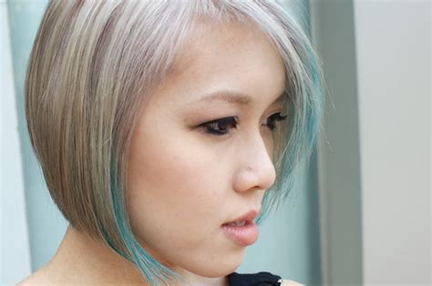 ash grey blonde ash grey silver hair blonde green bleached short