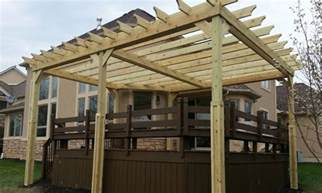 Diy Pergola On Existing Deck by Pergola Design Ideas Building A Pergola On A Deck Pergola