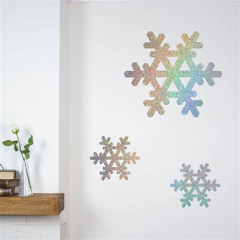 glitter snowflakes wall stickers by nutmeg