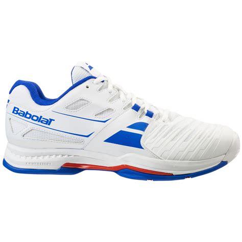 babolat tennis shoes babolat mens sfx all court tennis shoes white blue