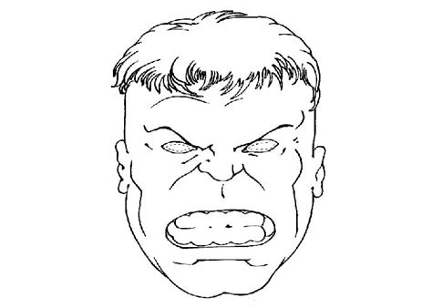 image gallery incredible hulk face template