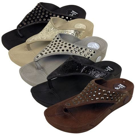 fliptop sandals toe post keep fit workout sandal flip flop wedge