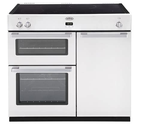electric induction cooker buy belling db4 90ei electric induction range cooker white free delivery currys