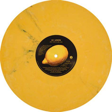 lemon u2 u2 lemon colored vinyl