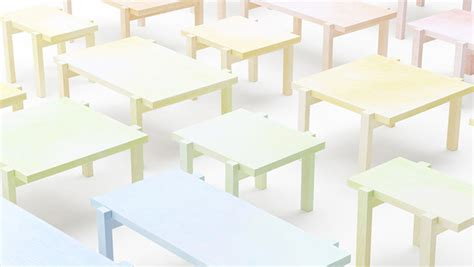 colored table ls lsn pencilled in pastel aesthetic rubs on nendo